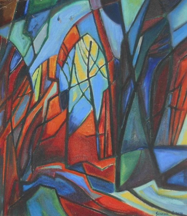 La Forêt : œuvre de Simon COCU, artiste peintre Ardennais