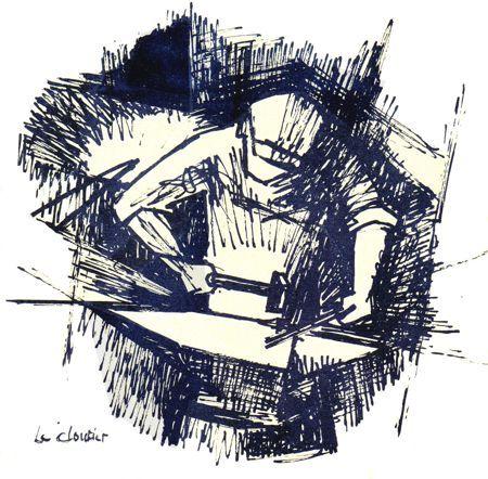 Le cloutier : œuvre de l'artiste peintre Ardennais, Simon COCU