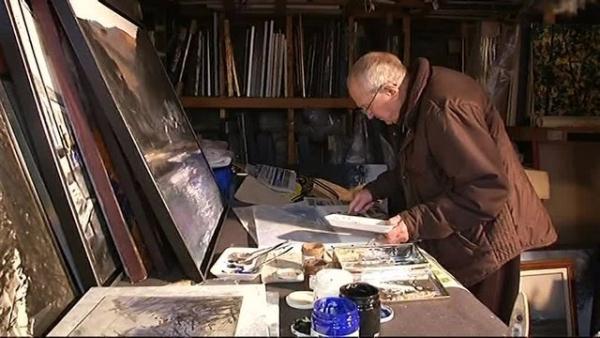 Simon COCU dans son atelier